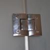 Bespoke Glass Door & Panel Hinge Detail