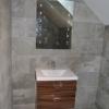 Luxury Ensuite Installation Basin Unit & Mirror Detail