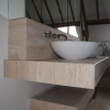 Wall Hung Solid Travertine Worktop