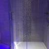 Luxury Bathroom Installation In Night With Bath Lighting