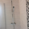 Scudo LINEAR Square Thermostatic Mixer Shower Drench Head And Kit