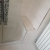 Shower Area Tiled Seating Area
