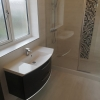 Wall Hung Pelipal Basin Unit In Antracite Gloss