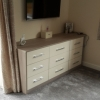 Luxury Bedroom Installation With CROWN LOCANO Oyster & Urban Oak