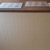 Oyster Painted T&G Breakfast Bar Back Panel