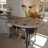 Luxury Kitchen Installation - Breakfast Bar Detail