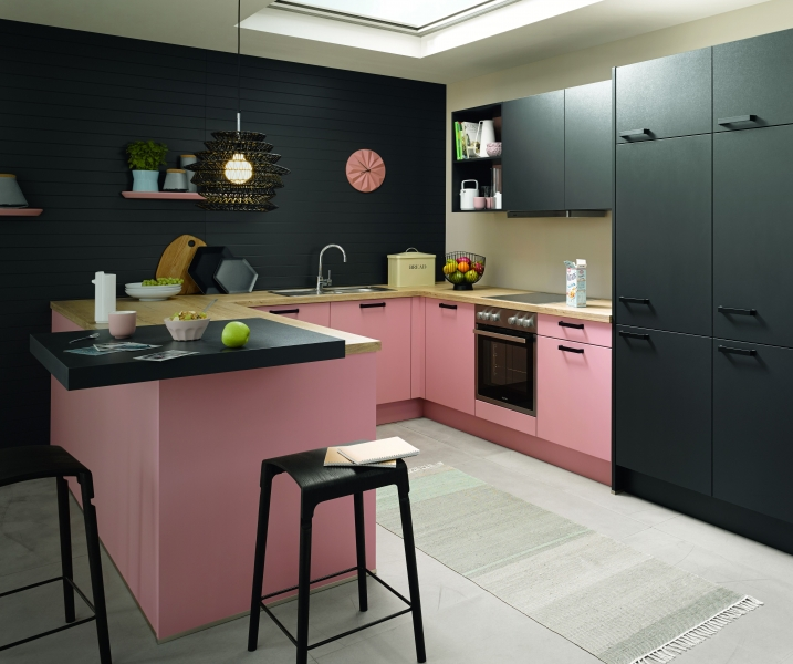 Schuller BIELLA Pastel Rose Satin By Complete Kitchens
