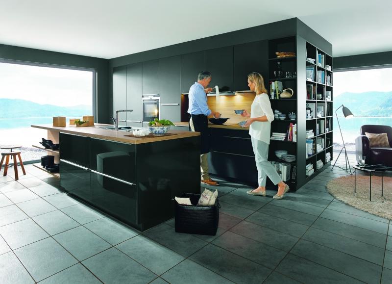 Schuller GLASLINE Glass Matt Lava Black By Complete Kitchens