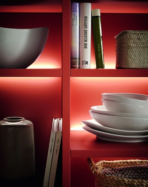Schuller LIMA Illuminated Open Shelf Unit By Complete Kitchens