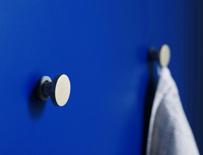 Schuller SIENA Aqua Blue Matt Velvet Round Hanger For Tea Towels By Complete Kitchens