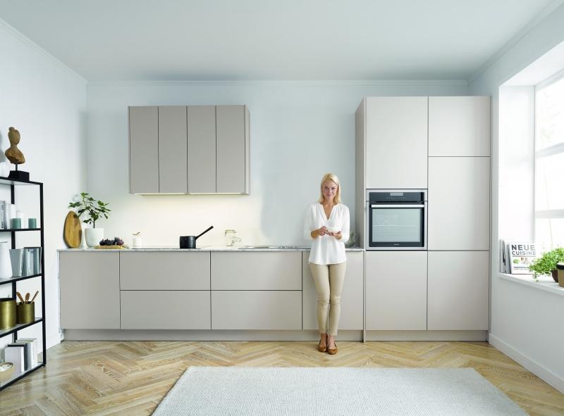 Schuller SIENA Sand Grey Matt Velvet By Complete Kitchen