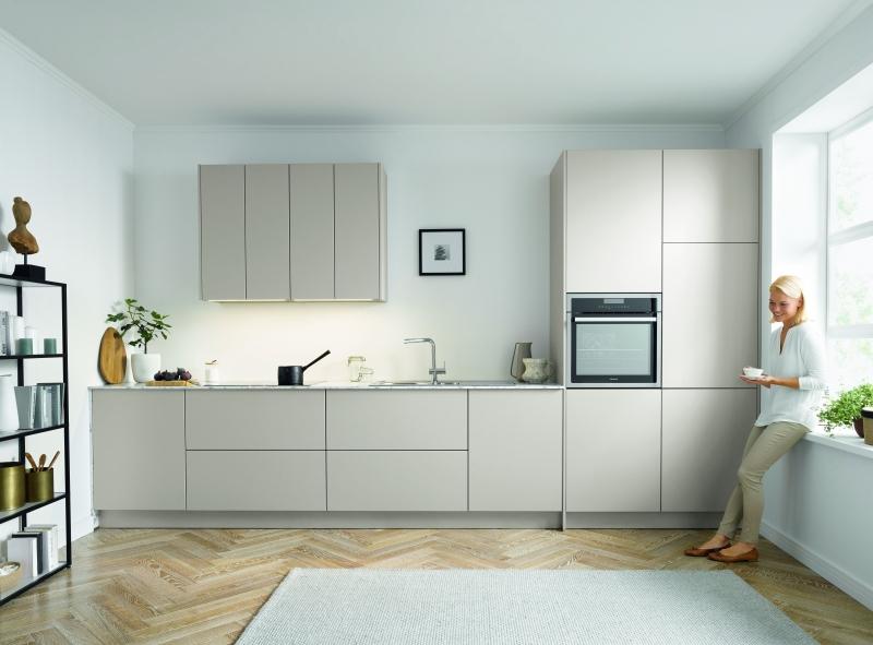 Schuller SIENNA Sand Grey Matt Velvet By Complete Kitchen