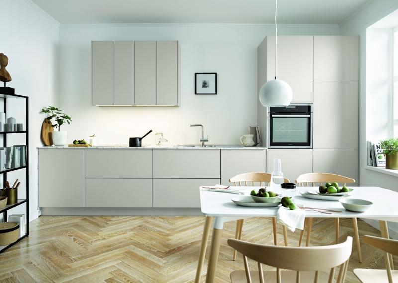 Schuller SIENNA Sand Grey Matt Velvet By Complete Kitchens