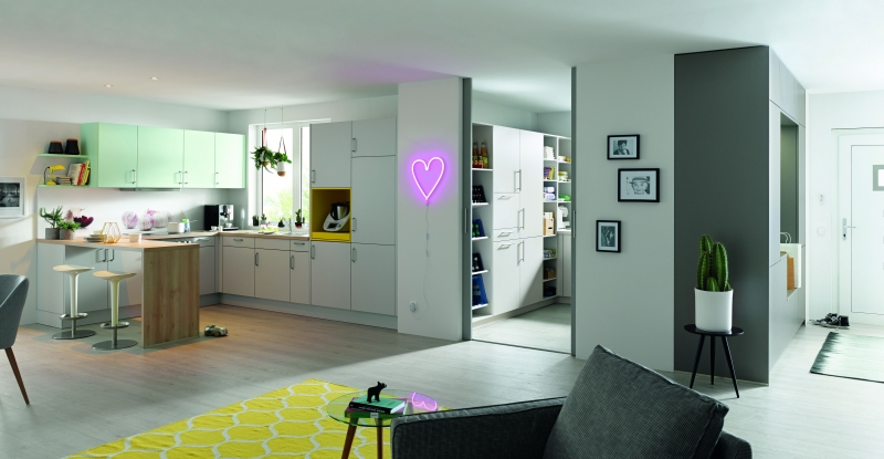 Schuller UNI MATT Stone Grey Matt Including Utility Area By Complete Kitchens