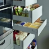 Schuller CASA Agate Grey Larder With Internal Pull Out Drawers By Complete Kitchens