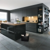 Schuller GLASLINE Glass Lava Black Kitchen