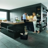 Schuller GLASLINE Glass Matt Lava Black By Complete Kitchens