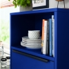 Schuller SIENNA Aqua Blue Matt Velvet Open Shelf Unit By Complete Kitchens